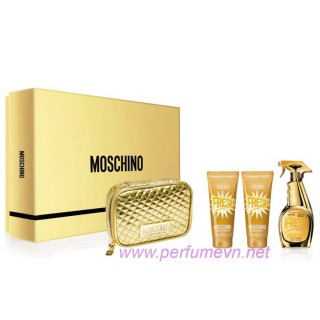 Gift set Moschino Gold Fresh Couture (4 pcs)